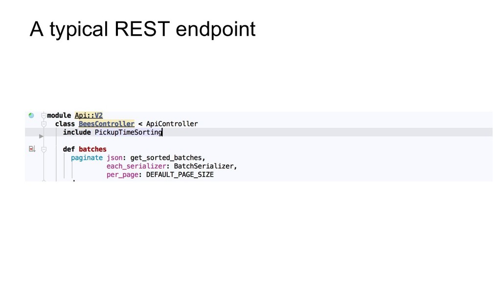 A typical REST endpoint