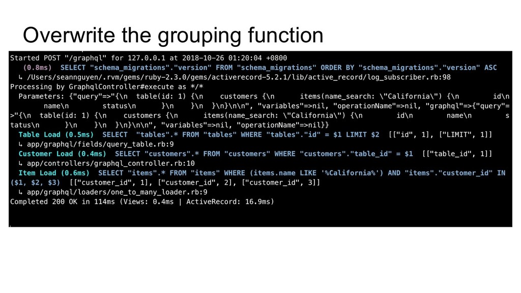 Overwrite the grouping function