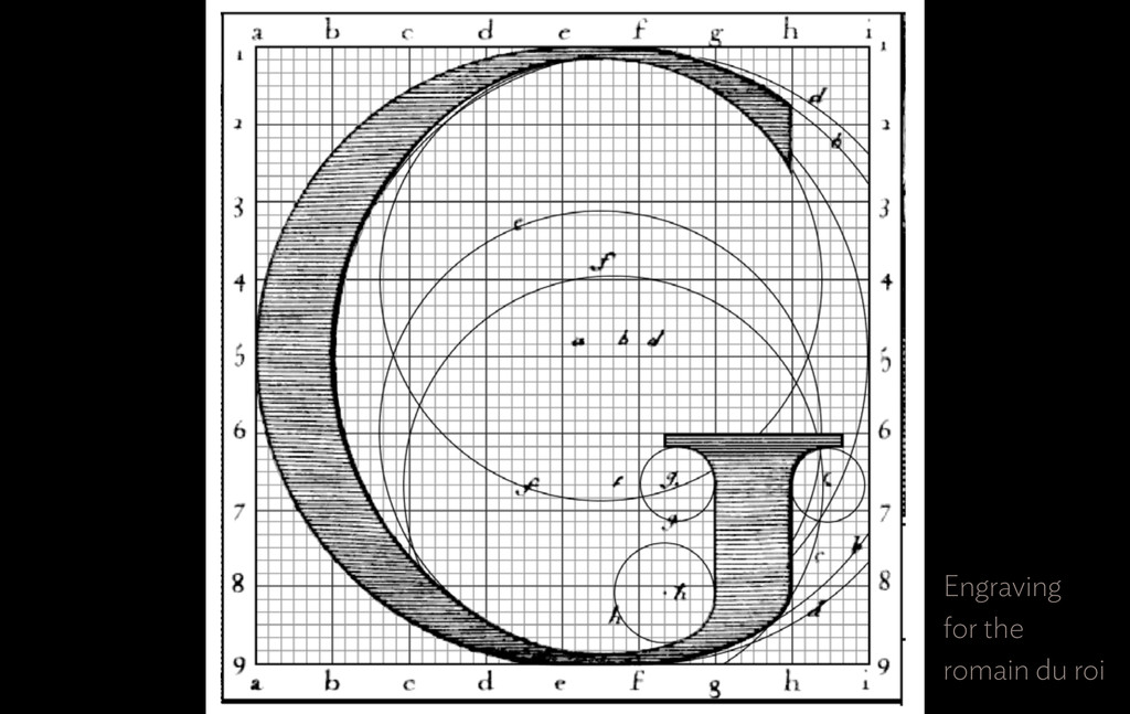 Engraving  for the  romain du roi