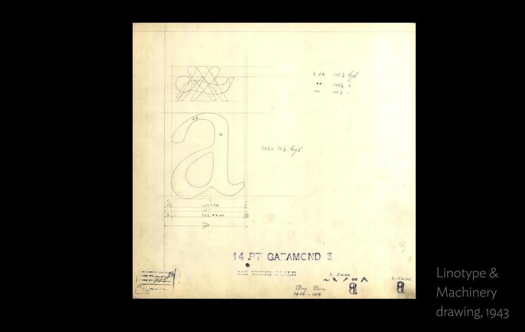 Linotype &  Machinery drawing, 1943