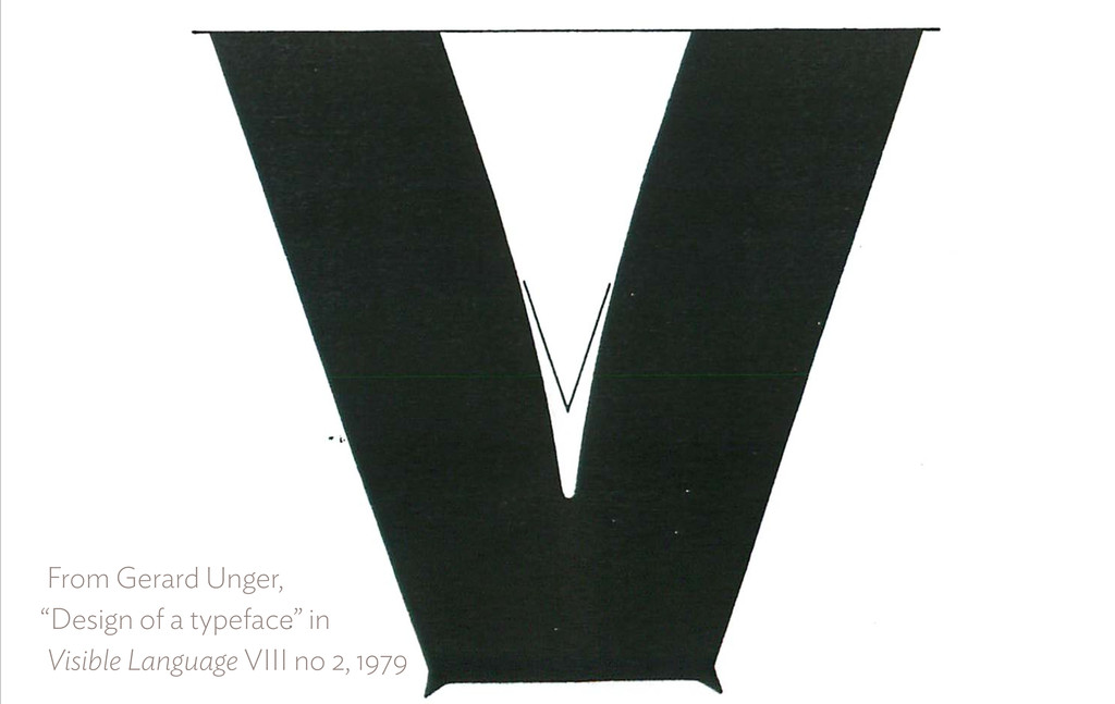 """From Gerard Unger,  """"Design of a typeface"""" in..."""
