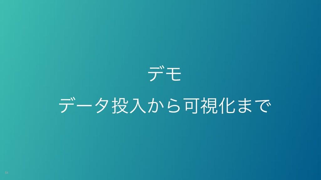 !54 σϞ σʔλೖ͔ΒՄࢹԽ·Ͱ