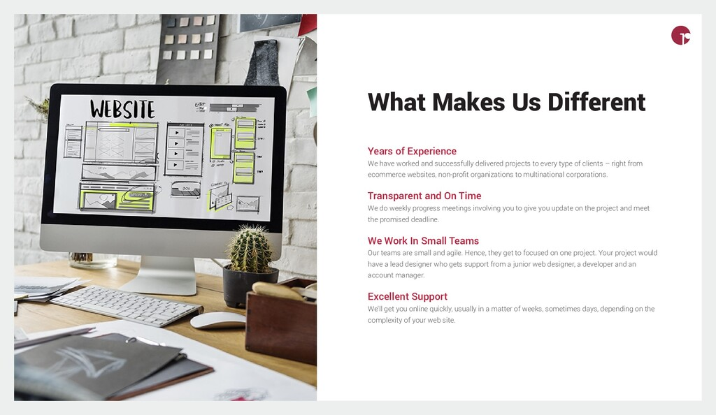 What Makes Us Different Years of Experience We ...
