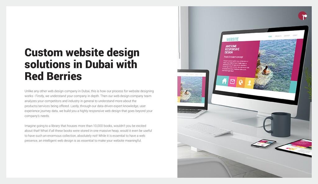 Custom website design solutions in Dubai with R...