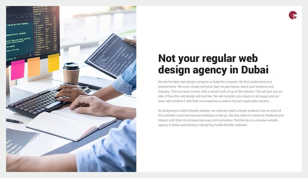 Not your regular web design agency in Dubai We ...