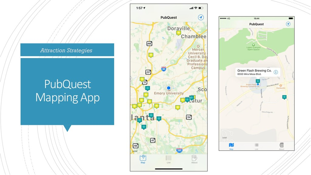 PubQuest Mapping App Attraction Strategies