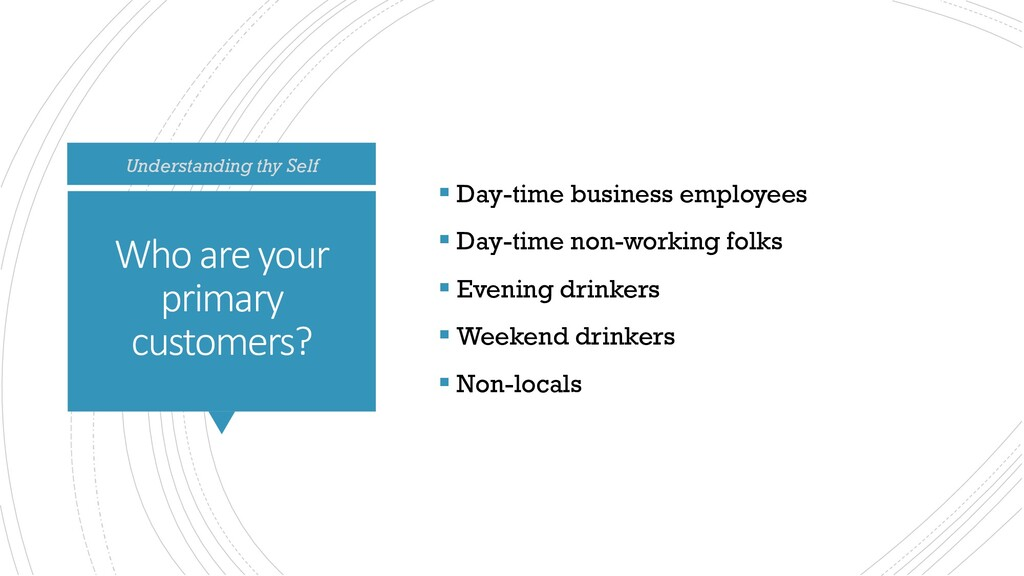Who are your primary customers?  Day-time busi...