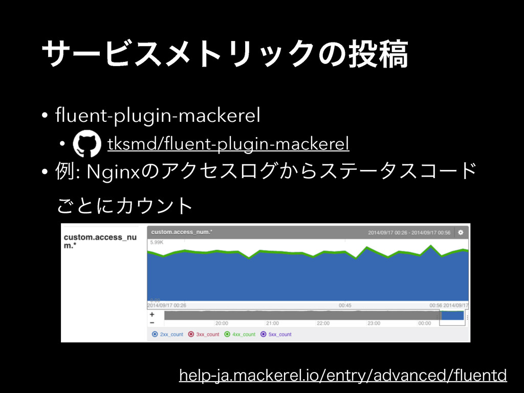 αʔϏεϝτϦοΫͷߘ • fluent-plugin-mackerel • tksmd/flu...