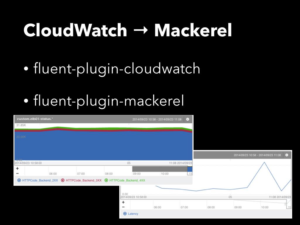 CloudWatch → Mackerel • fluent-plugin-cloudwatch...