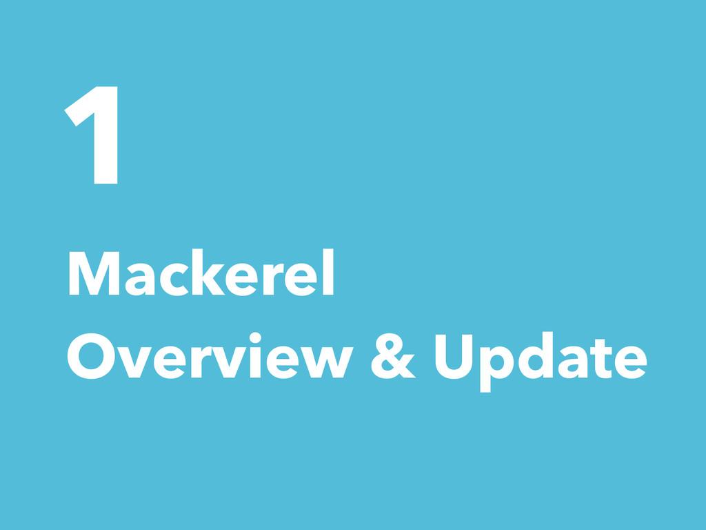 1 Mackerel Overview & Update