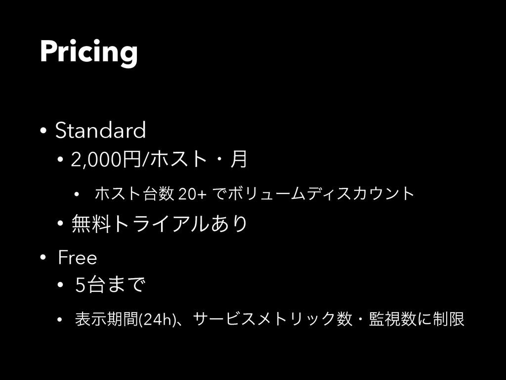 Pricing • Standard • 2,000ԁ/ϗετɾ݄ • ϗετ 20+ Ͱ...