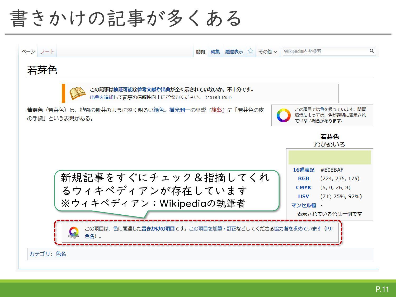 P.11 この気持を持つことで、WikipediaTownは始まります