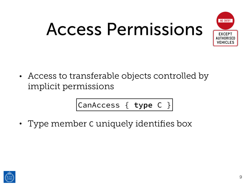 Access Permissions • Access to transferable obj...