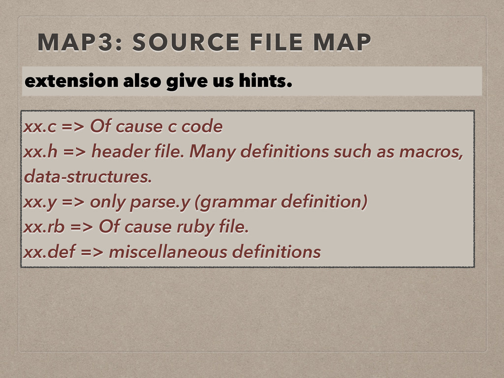 MAP3: SOURCE FILE MAP extension also give us hi...