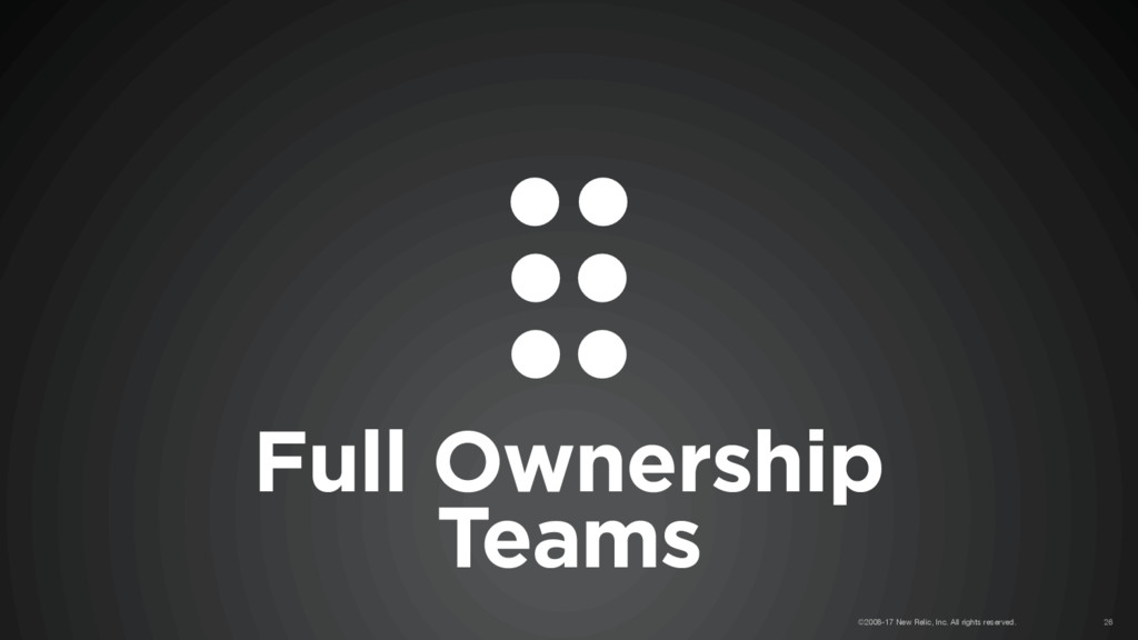 Full Ownership Teams ©2008-17 New Relic, Inc. A...