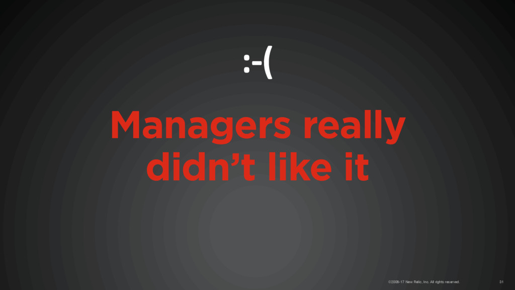 Managers really didn't like it :-( ©2008-17 New...