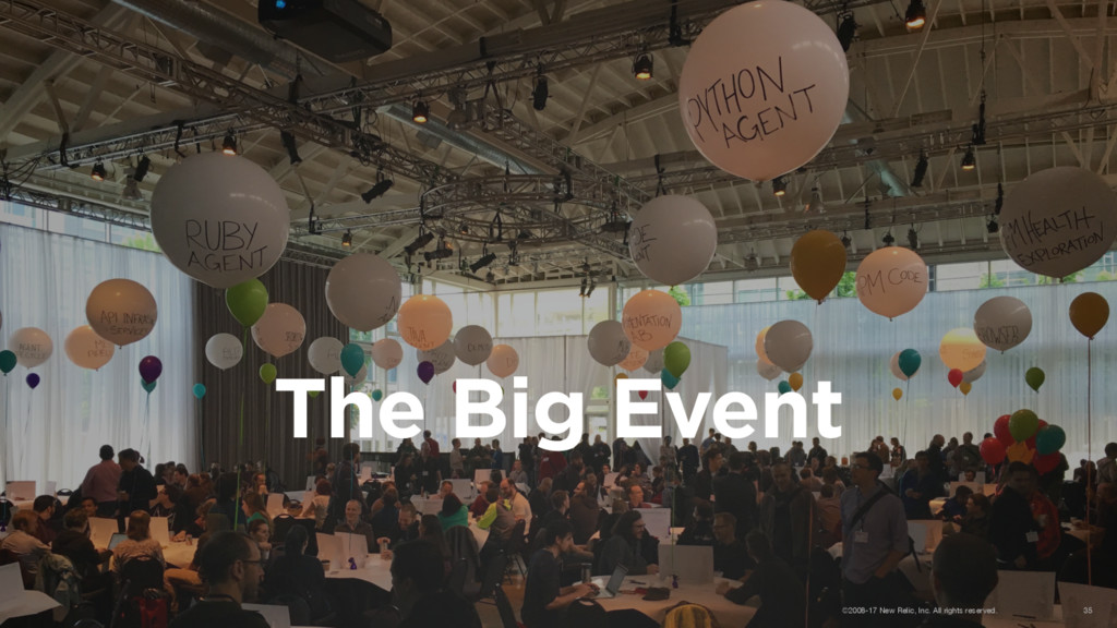 The Big Event ©2008-17 New Relic, Inc. All righ...