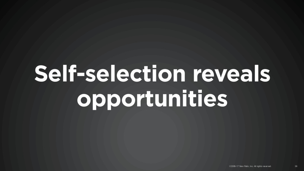 Self-selection reveals opportunities ©2008-17 N...