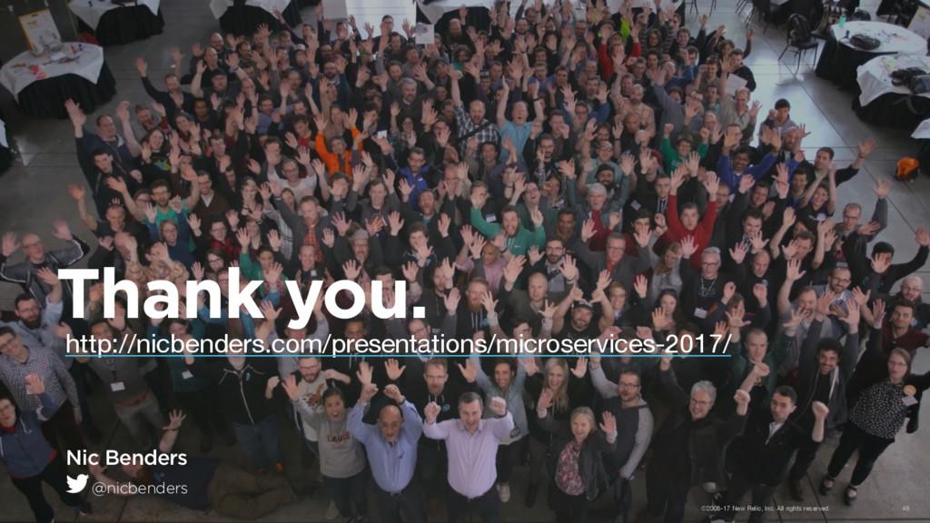 Thank you. Nic Benders @nicbenders http://nicbe...