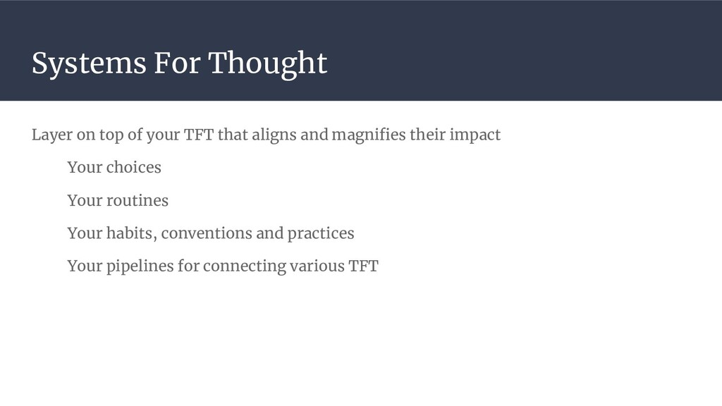 Systems For Thought Layer on top of your TFT th...