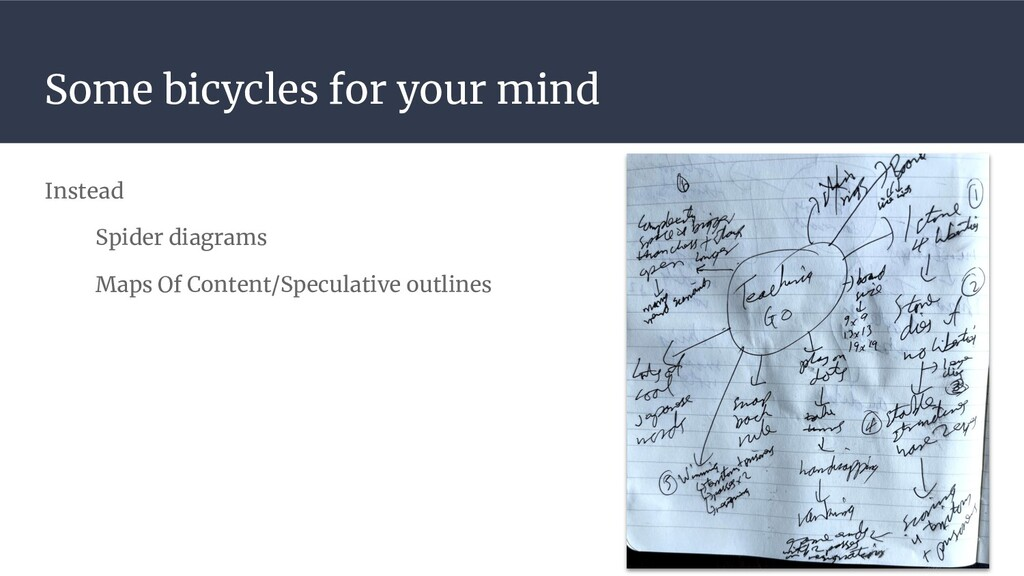 Some bicycles for your mind Instead Spider diag...