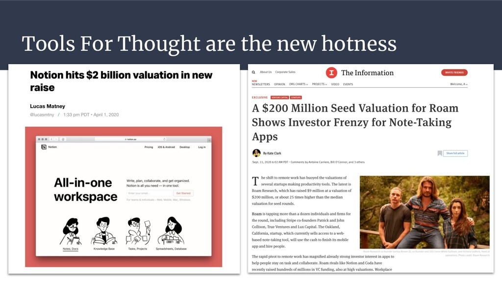 Tools For Thought are the new hotness