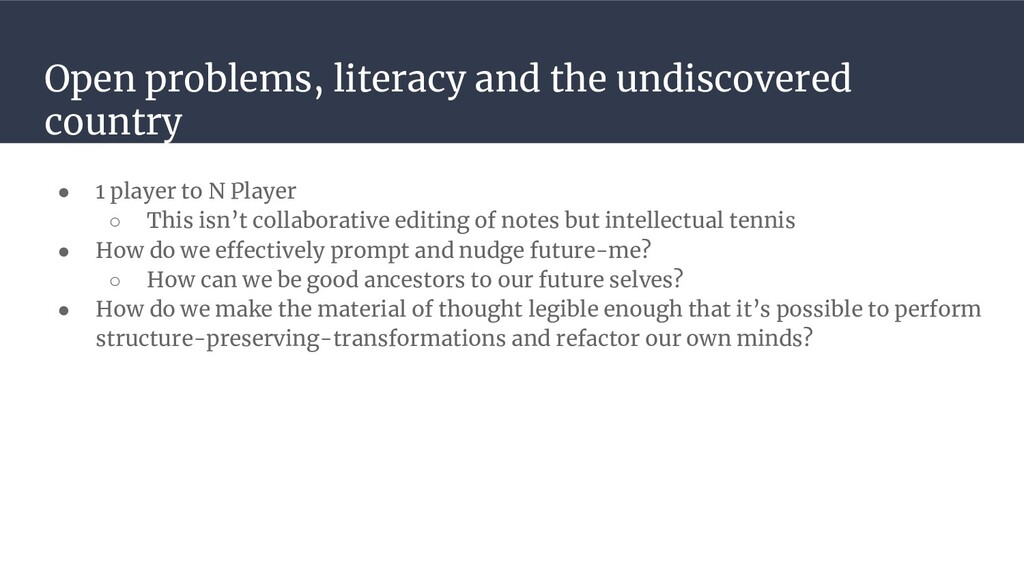 Open problems, literacy and the undiscovered co...