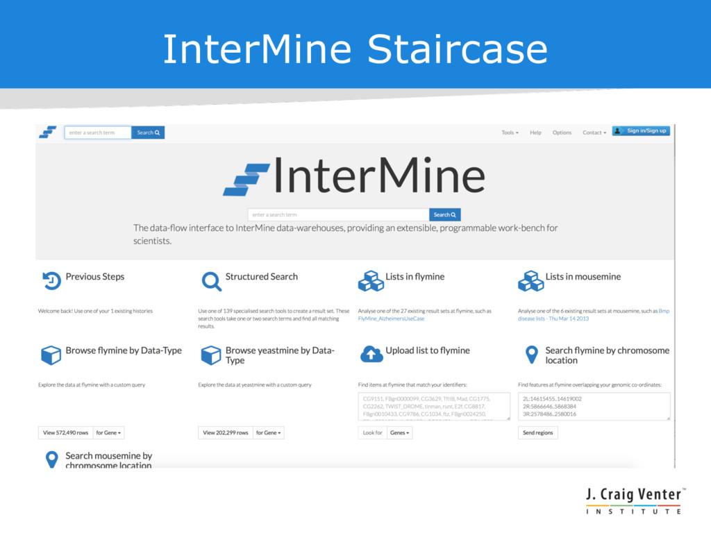 InterMine Staircase