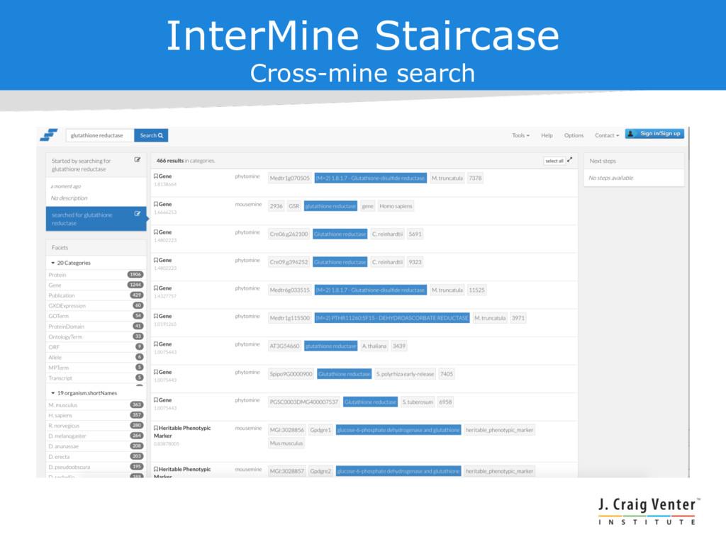 InterMine Staircase Cross-mine search