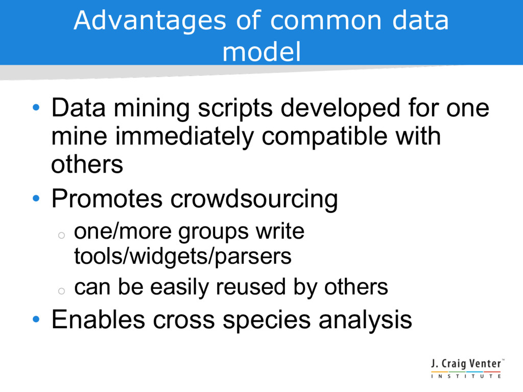 Advantages of common data model • Data mining s...
