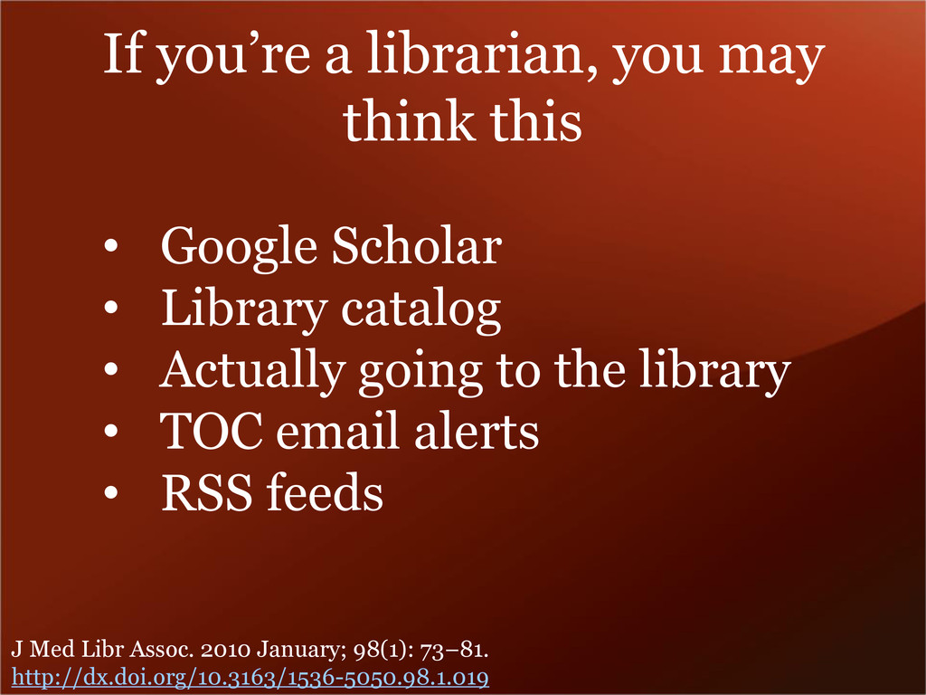 If you're a librarian, you may think this • Goo...