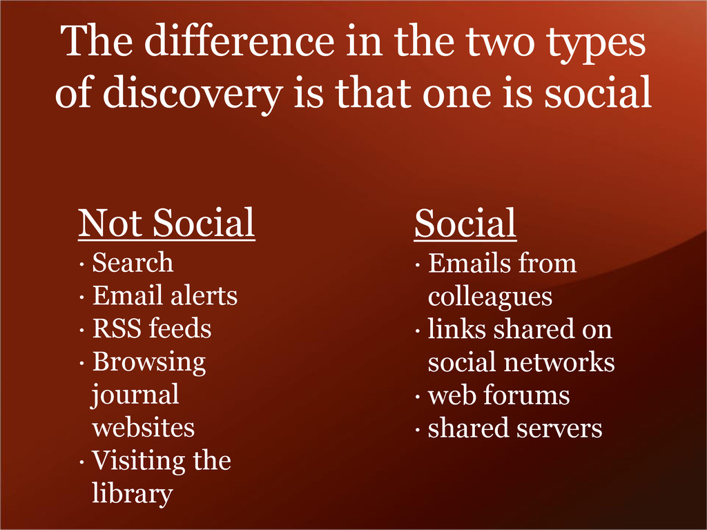 The difference in the two types of discovery is...