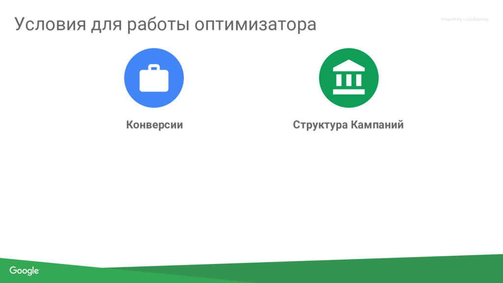 Proprietary + Confidential Конверсии Структура ...