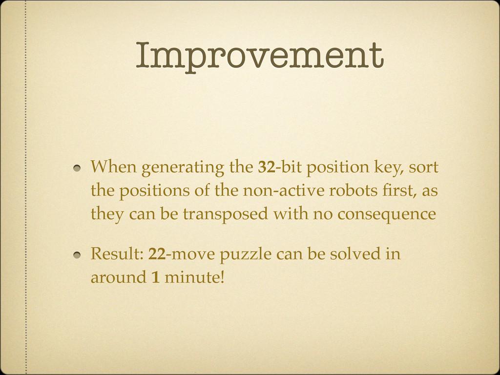 Improvement When generating the 32-bit position...