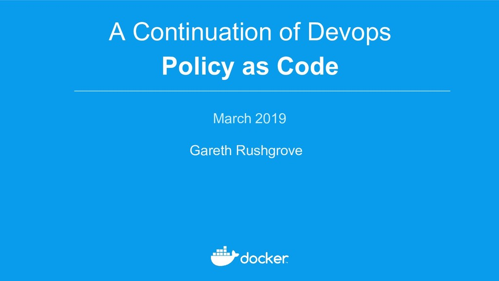 A Continuation of Devops Policy as Code March 2...