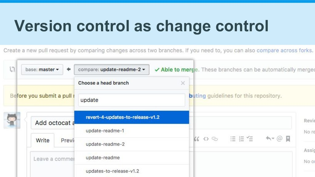 Version control as change control