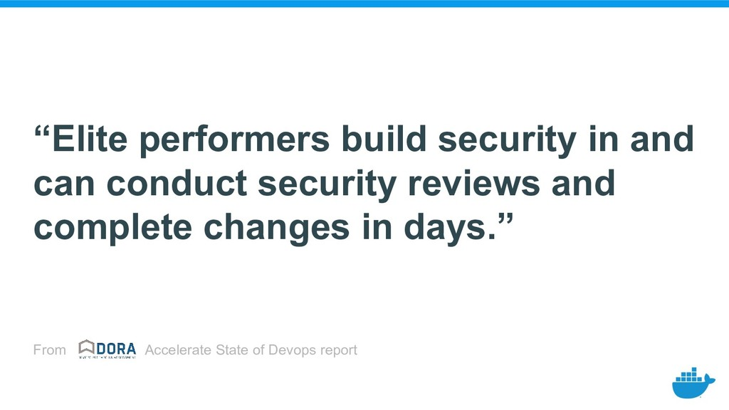 """Elite performers build security in and can con..."