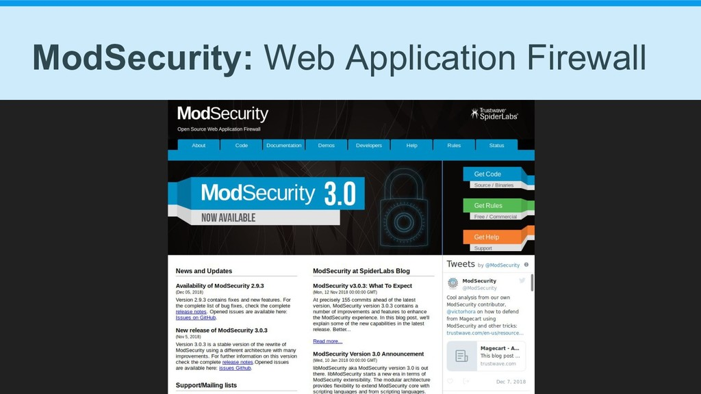 ModSecurity: Web Application Firewall