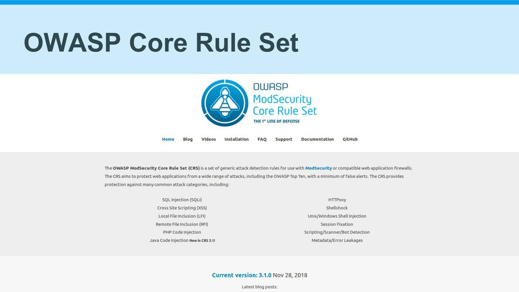 OWASP Core Rule Set
