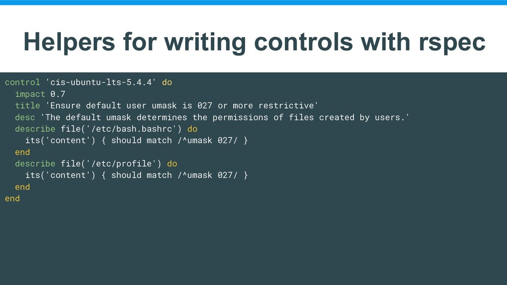 Helpers for writing controls with rspec control...