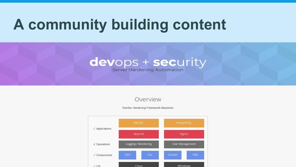 A community building content