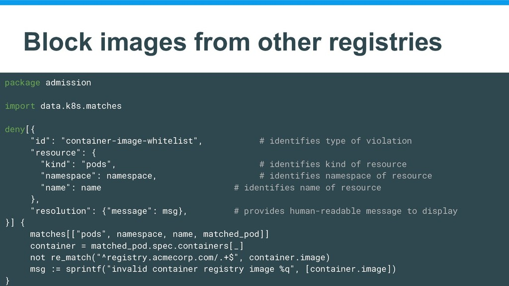 Block images from other registries package admi...