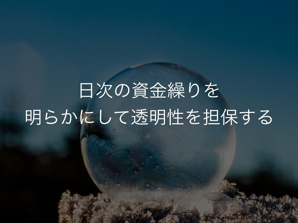 ͷࢿۚ܁ΓΛ ໌Β͔ʹͯ͠ಁ໌ੑΛ୲อ͢Δ