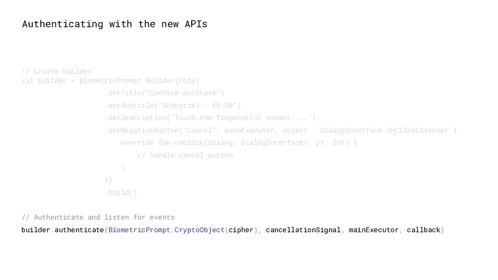 Authenticating with the new APIs // Create buil...