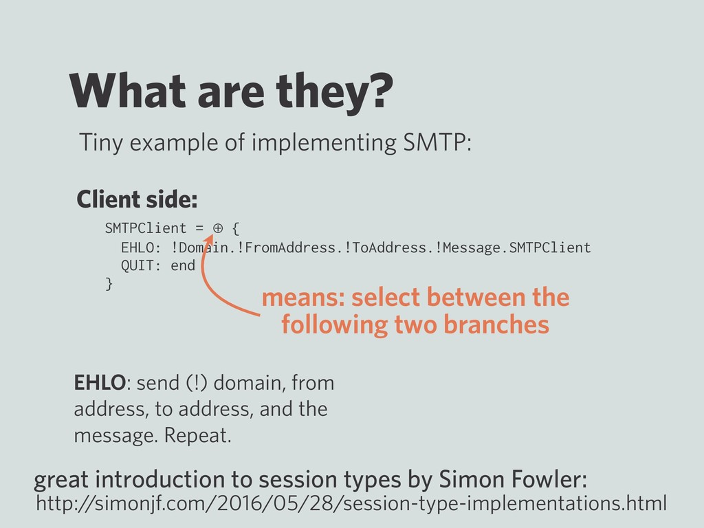 What are they? Tiny example of implementing SMT...