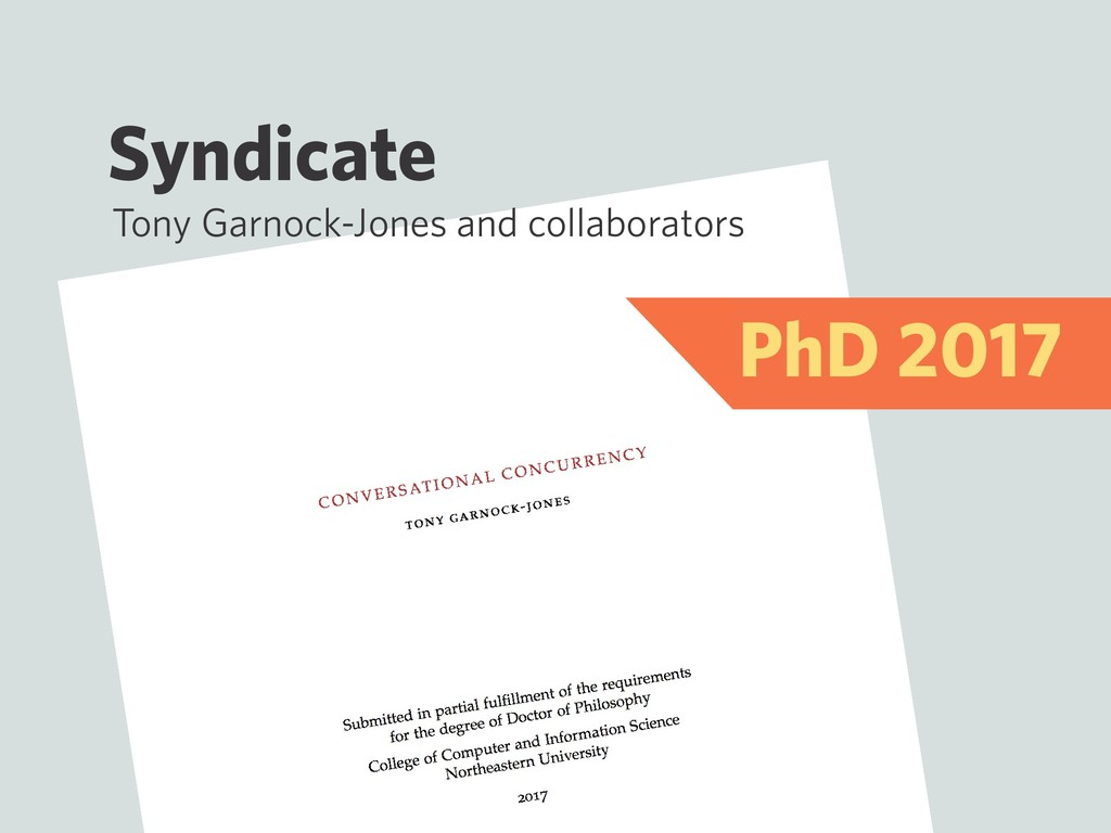 Syndicate Tony Garnock-Jones and collaborators ...