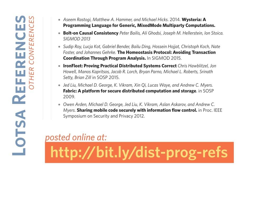 Lotsa References other conferences http://bit.l...