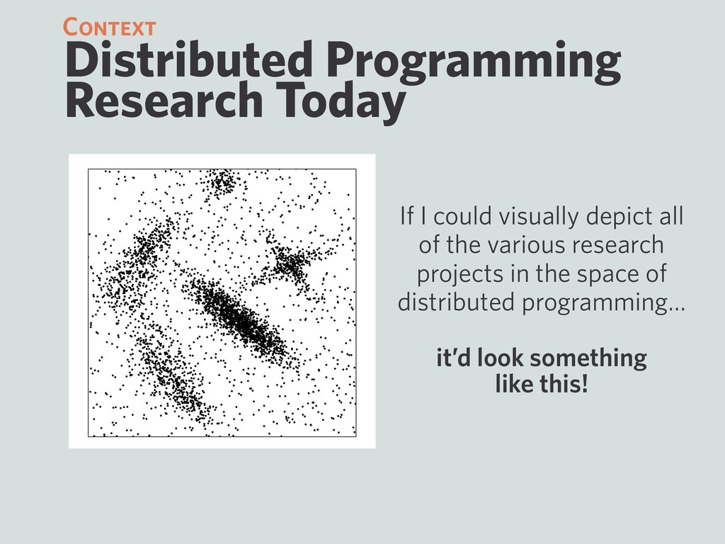 Distributed Programming Research Today If I cou...