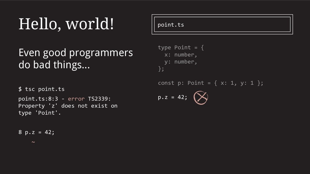 Hello, world! Even good programmers do bad thin...