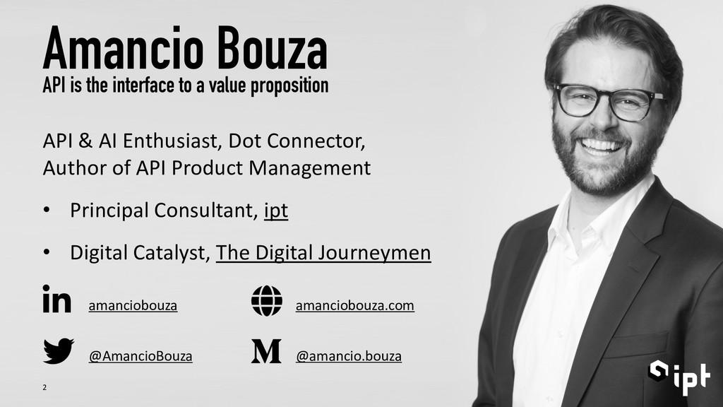 @AmancioBouza Amancio Bouza API is the interfac...